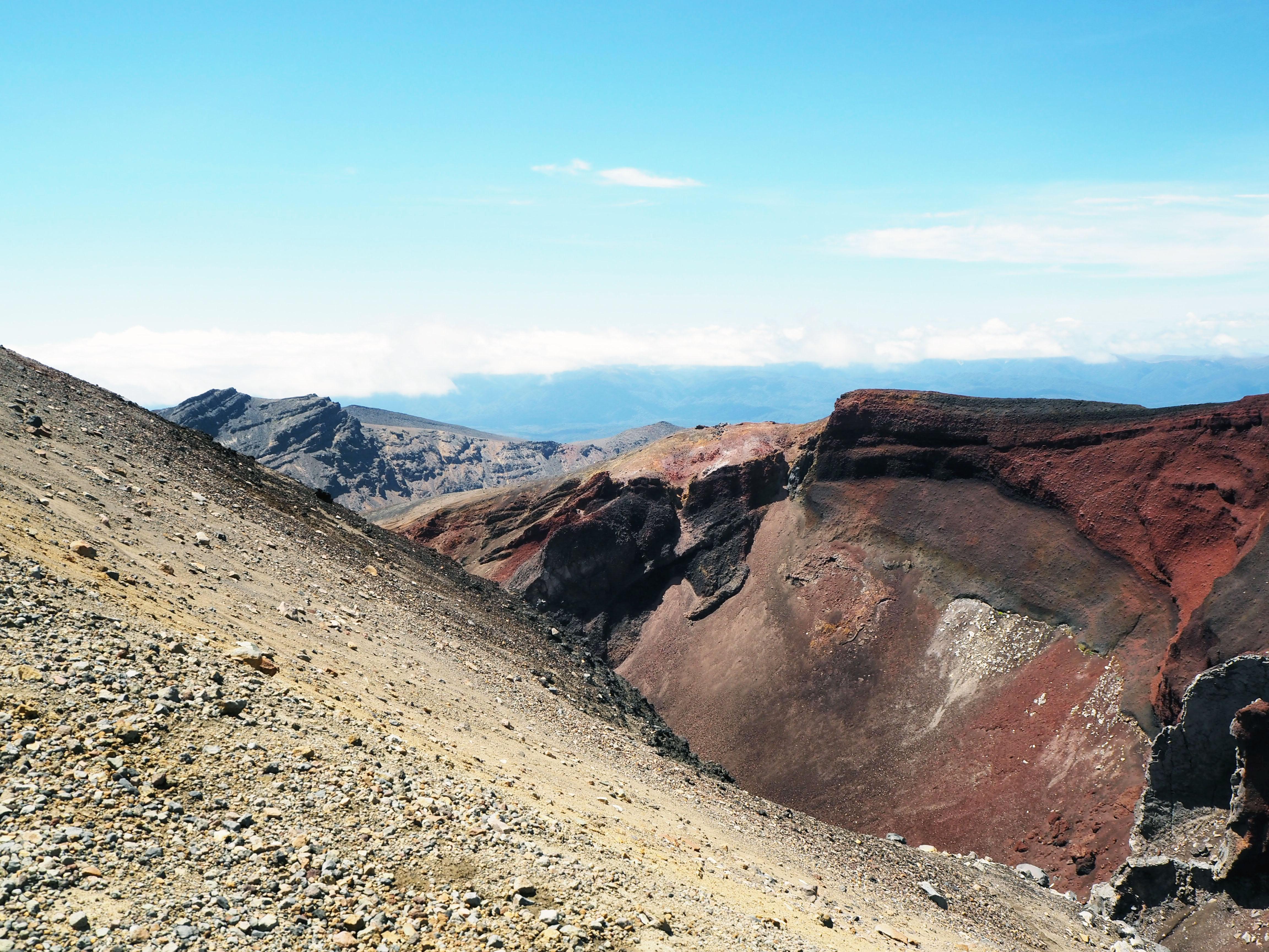 Punainen kraateri ja taustalla Te Maari