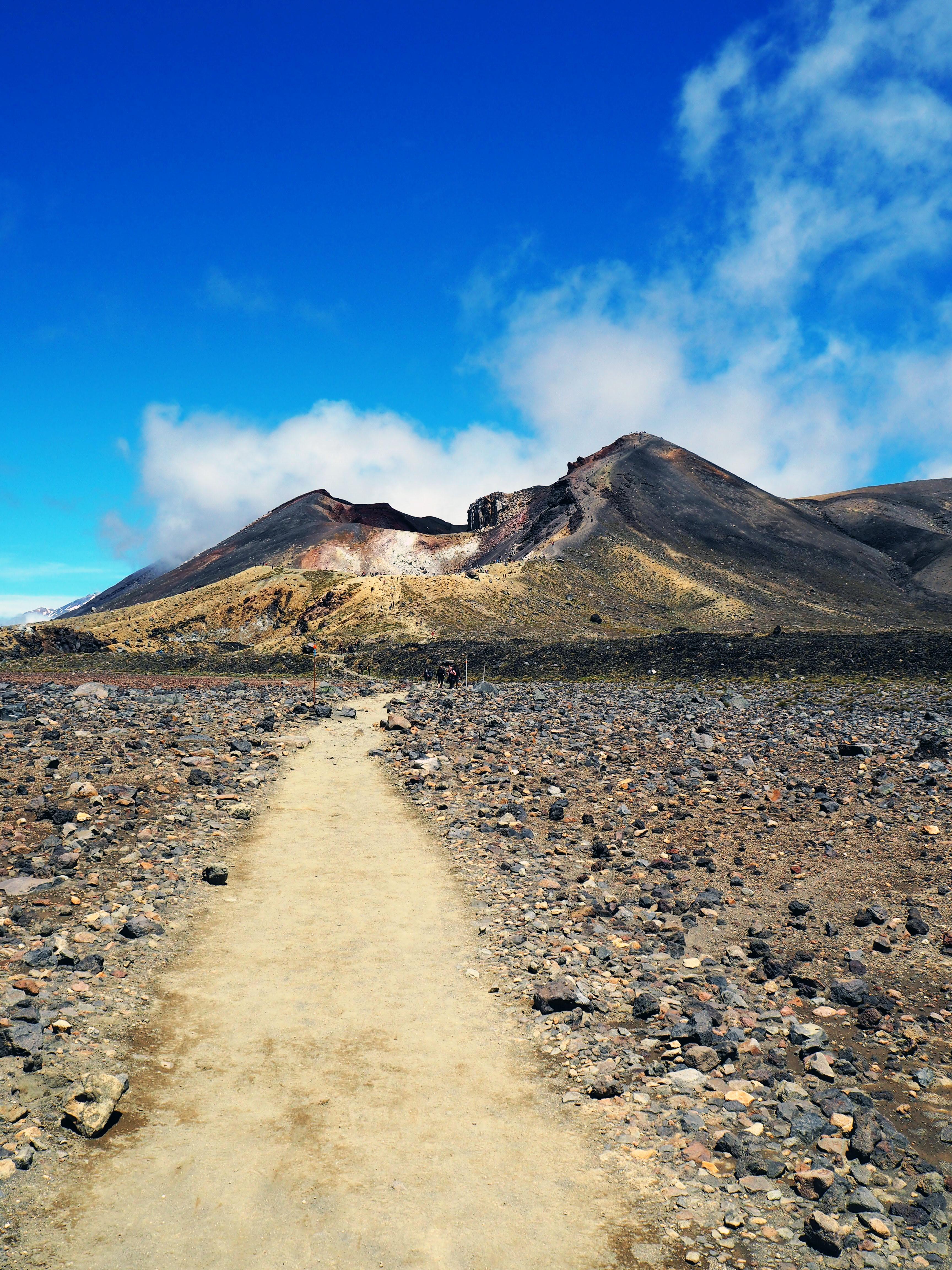 Maisemat Central crater:lta Tongariron suuntaan